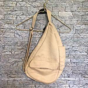 Ameribag Faux Suede Cream Back Sling Bag Shoulder